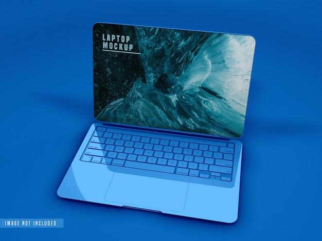 Крупным планом вид макета ноутбука дизайн Бесплатные Psd