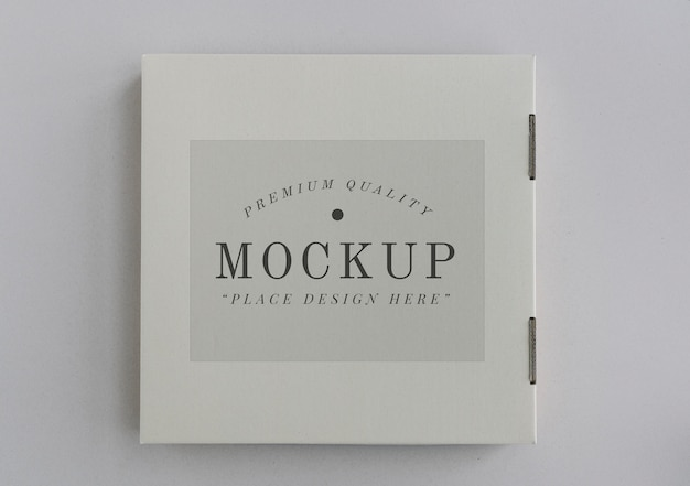 Closed delivery pizza box mockup Free Psd