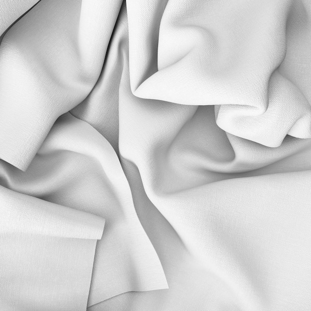 Closeup of crumpled white sheets Free Psd