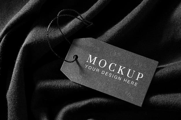 Бирка-макет одежды на мягкой ткани Бесплатные Psd