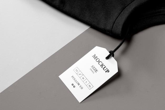Размер одежды белый макет высокий вид и черное полотенце Бесплатные Psd