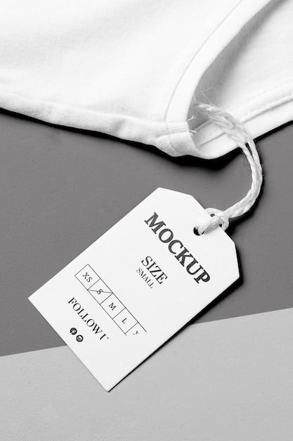 Размер одежды белый макет высокого вида и белое полотенце Бесплатные Psd
