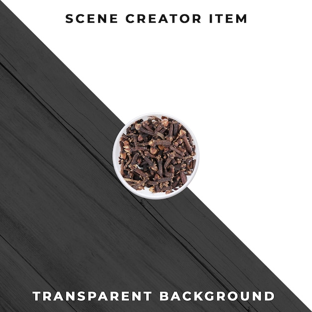Cloves  isolated with clipping path. Premium Psd