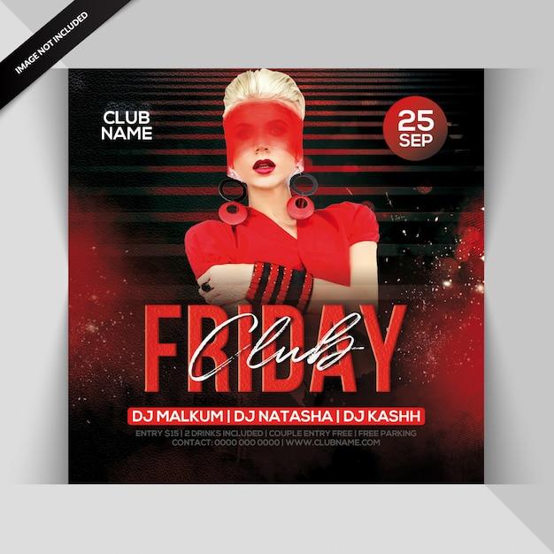 Club friday night party flyer Premium Psd