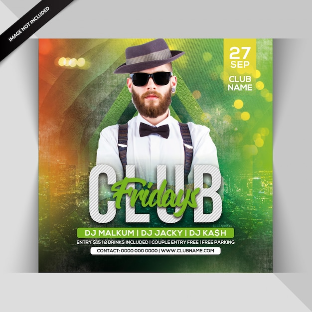 Club friday party flyer Premium Psd