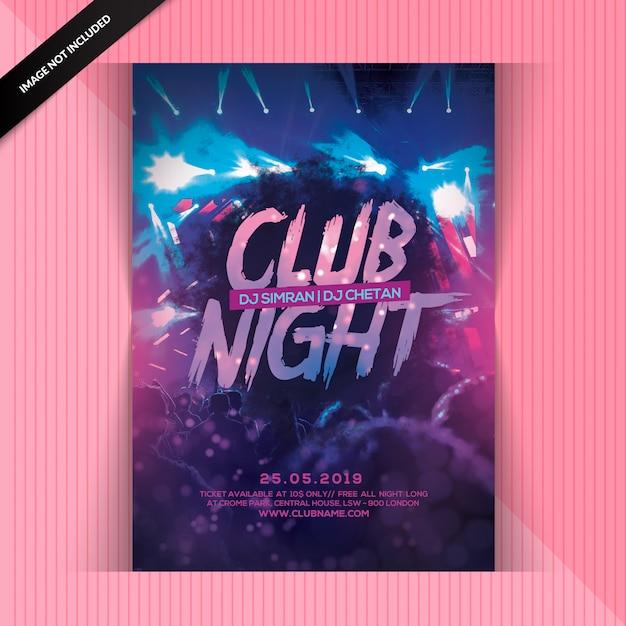 Club night party flyer Premium Psd