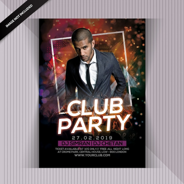 Club night party flyer Premium Psd