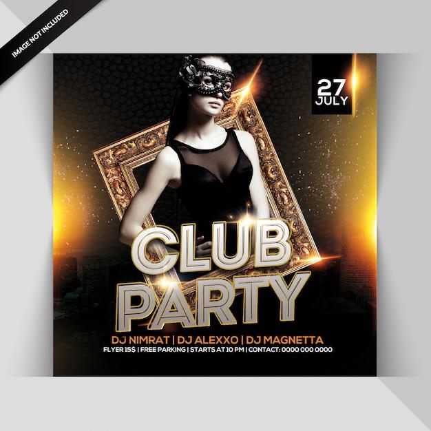 Club party flyer Premium Psd