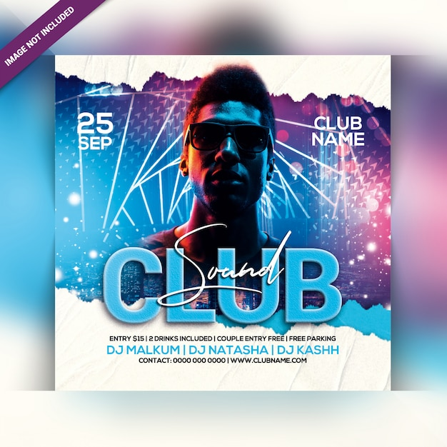 クラブサウンドパーティーフライヤー Premium Psd