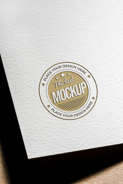 Coarse paper mock-up for business card Premium Psd