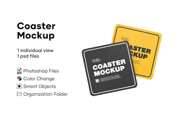 Coaster mockup Premium Psd