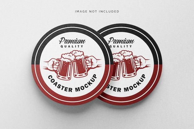 コースターのモックアップ Premium Psd