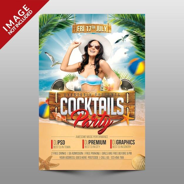 Cocktails party Premium Psd
