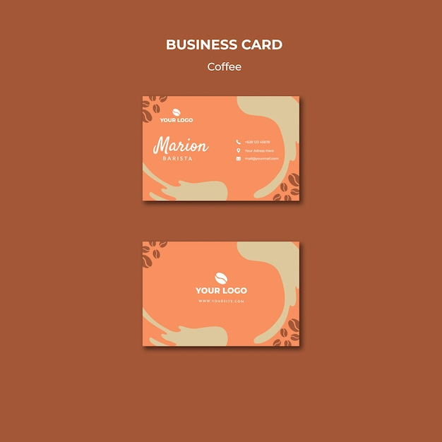 Coffe concept business card mock-up Free Psd
