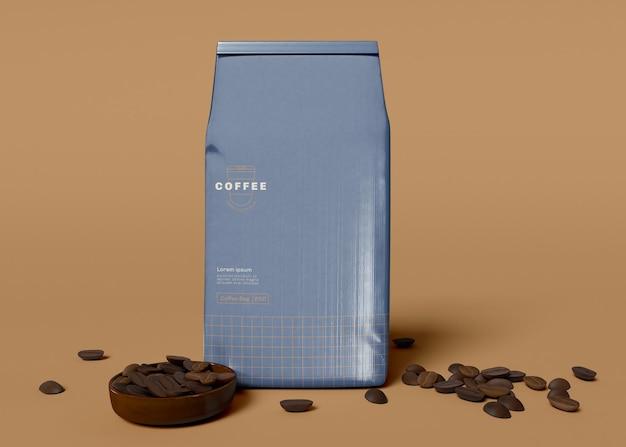 커피 가방 모형 무료 PSD 파일