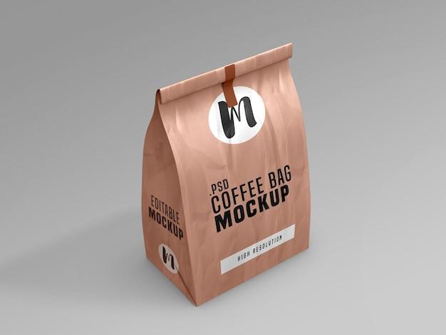 커피 가방 패킷 모형 무료 PSD 파일