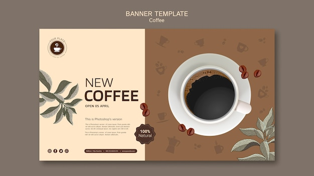 Coffee banner template Free Psd