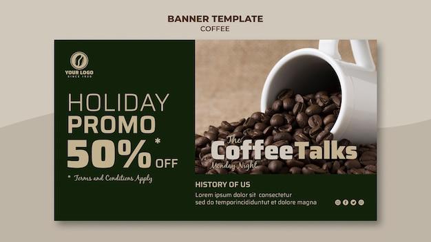 Кофейный баннер с раскруткой Бесплатные Psd