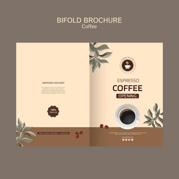 Coffee bifold brochure Free Psd