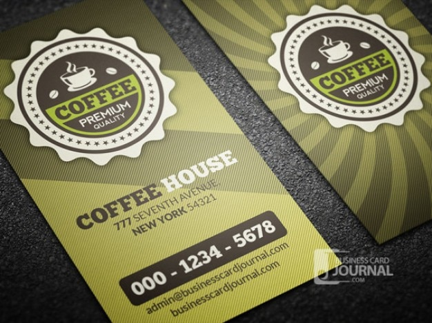 Coffee business card template retro style psd file free download coffee business card template retro style free psd wajeb Images
