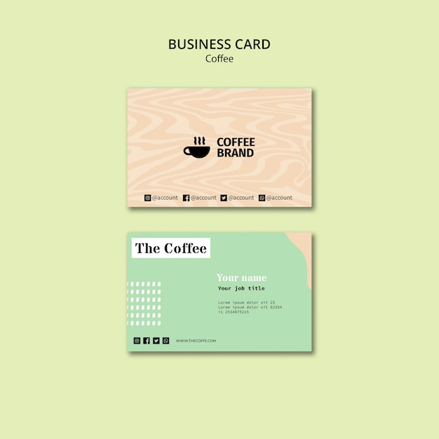 Coffee business card template Free Psd