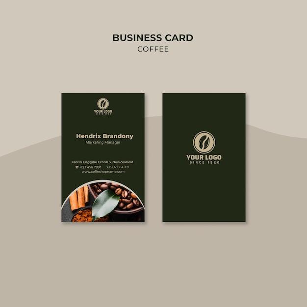 Biglietto da visita caffè Psd Gratuite