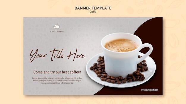 커피 컨셉 배너 스타일 무료 PSD 파일