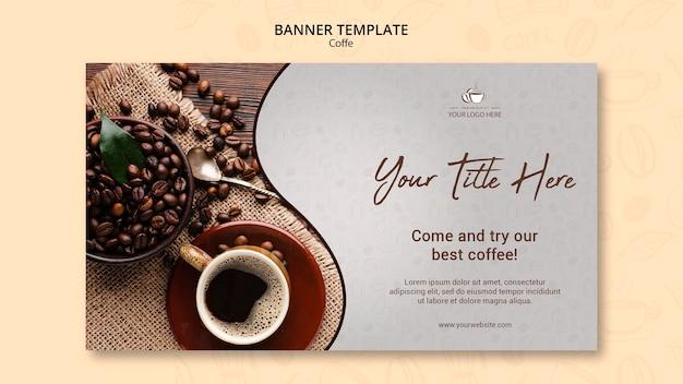 커피 개념 배너 템플릿 무료 PSD 파일