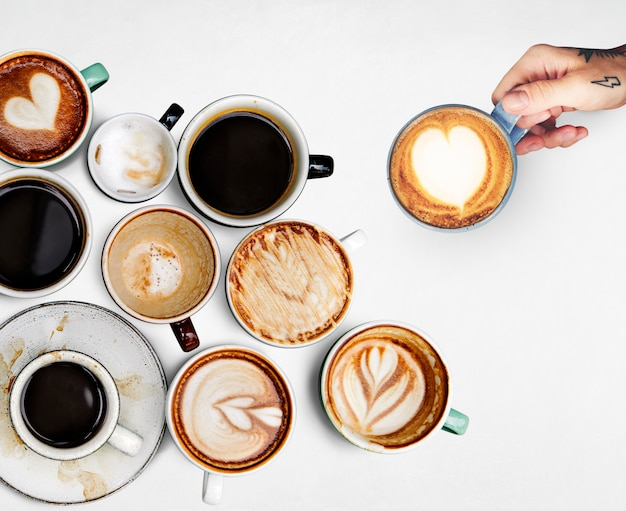 Coffee cup collection Free Psd