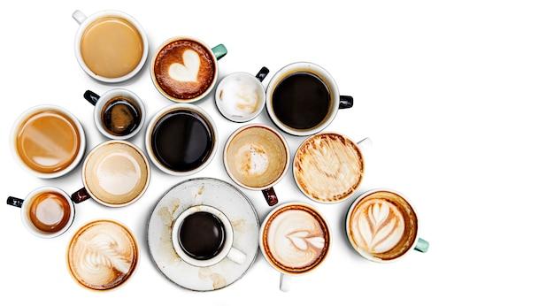 Коллекция кофейных чашек Бесплатные Psd