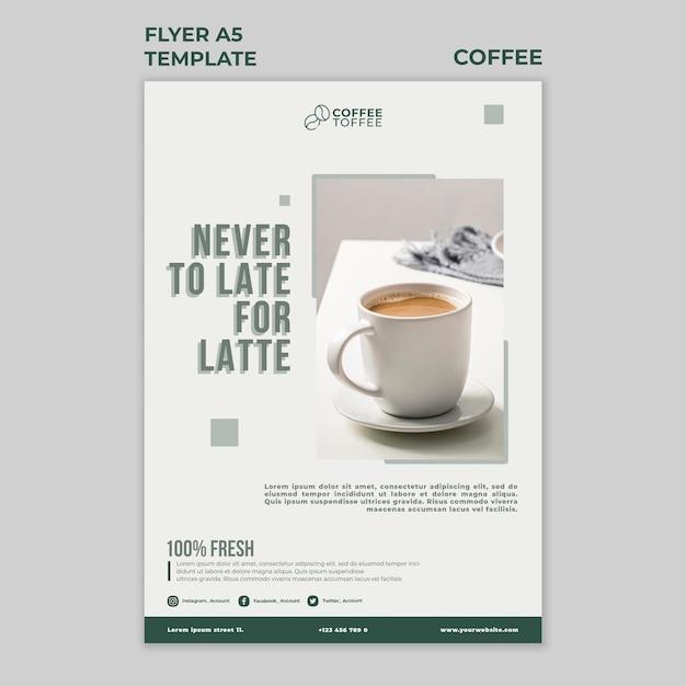 커피 컵 전단지 서식 파일 무료 PSD 파일