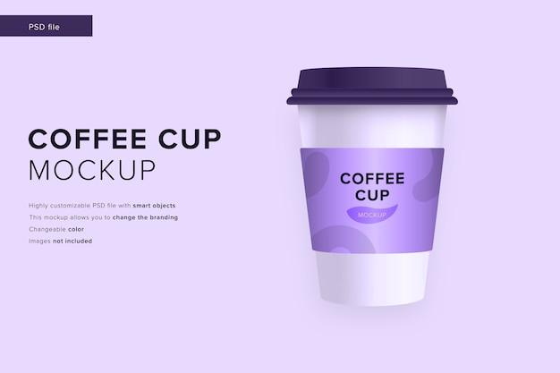 현대적인 디자인 스타일 모형의 커피 컵 모형 프리미엄 PSD 파일