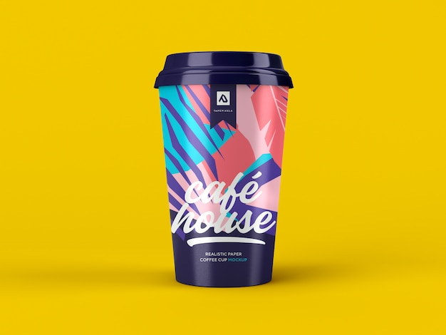 Coffee cup mockup. takeaway coffee container Premium Psd