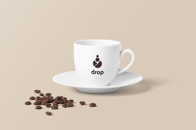 Кофейная чашка с фасолью Premium Psd