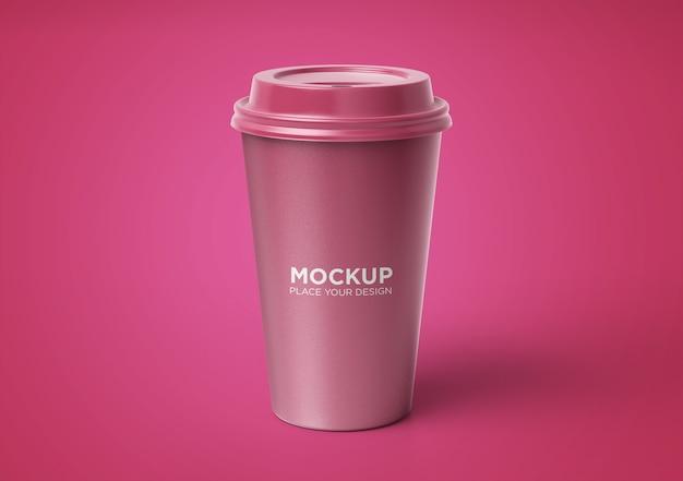 分離された花柄のコーヒーカップのモックアップ Premium Psd