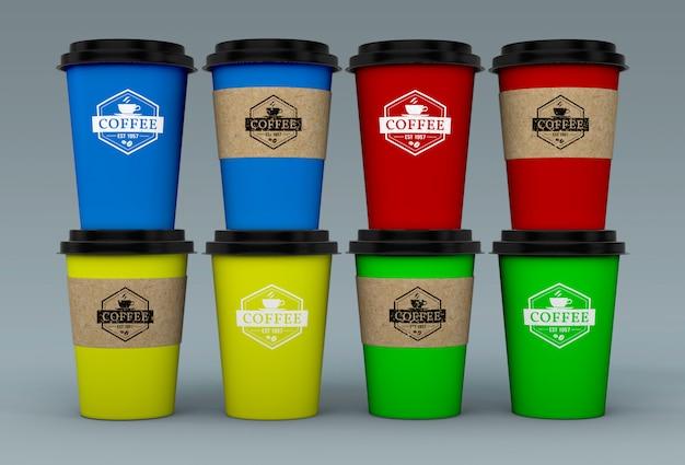 コーヒーカップのモックアップ 無料 Psd