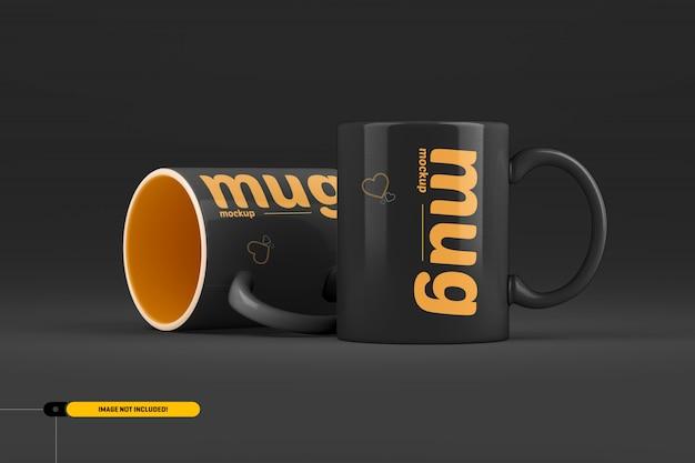 커피 컵. 머그컵 이랑 프리미엄 PSD 파일