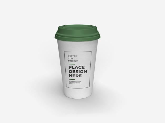 Макет упаковки чашки кофе изолированные Premium Psd