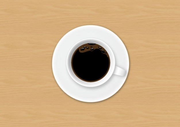 Coffee Cup Top View Psd File Free Download