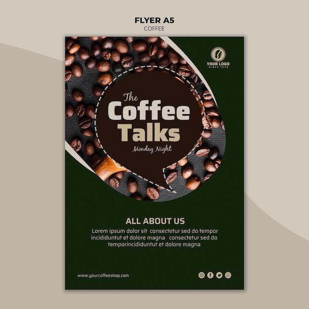 Шаблон флаера кофе Бесплатные Psd