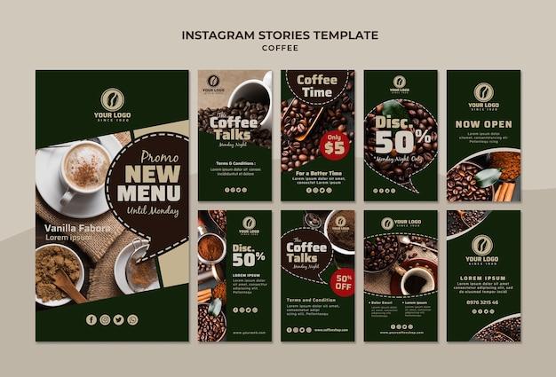 Шаблон истории кофе инстаграм Бесплатные Psd