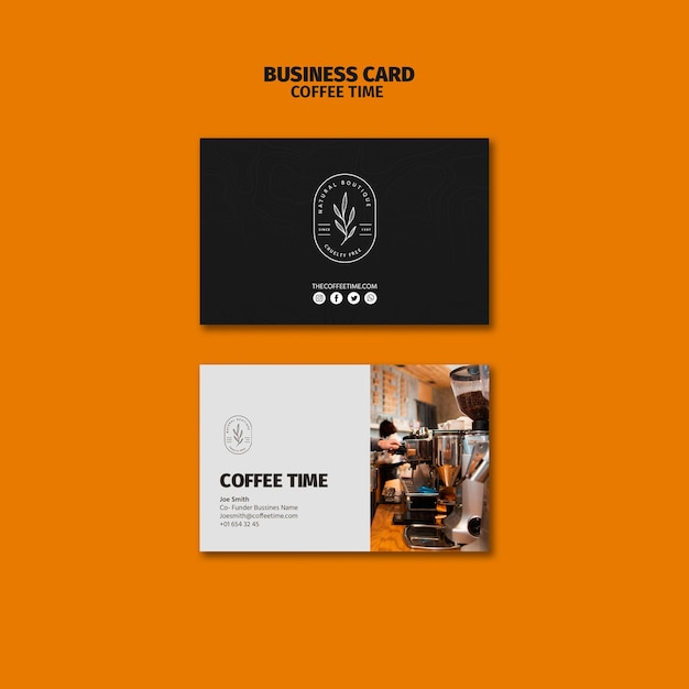 Coffee machines business card template Free Psd