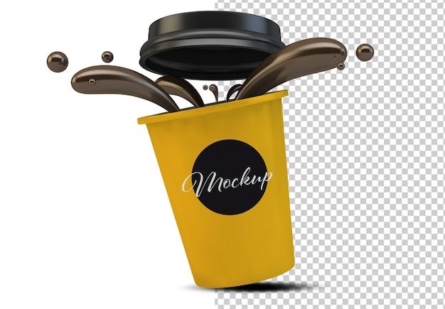 Изолированный макет кофейной кружки Premium Psd