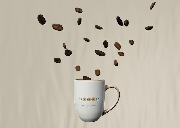 커피 머그 모형 무료 PSD 파일