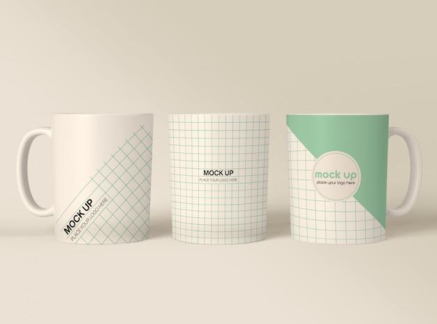 Coffee mugs mockup Premium Psd