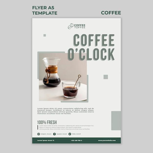 커피시 전단지 서식 파일 무료 PSD 파일