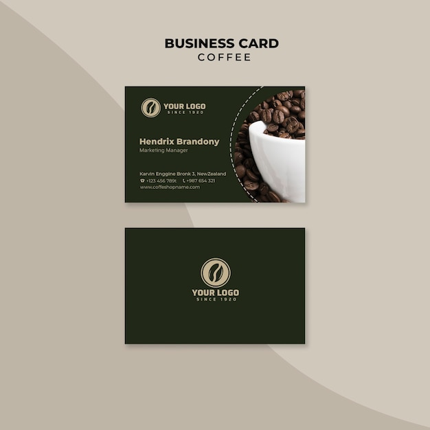 Coffee professional business card Free Psd