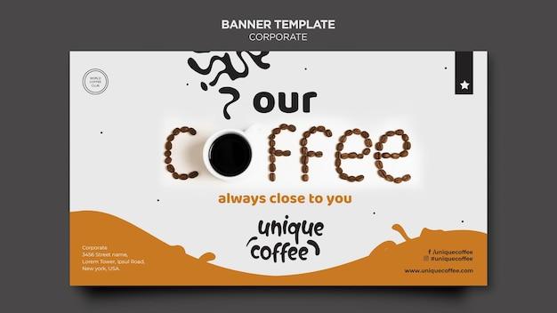 커피 숍 배너 서식 파일 무료 PSD 파일