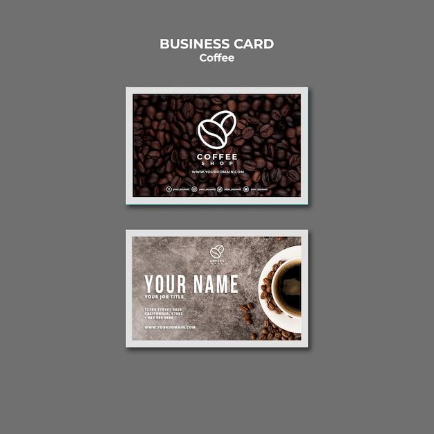 Кофейня визитная карточка Бесплатные Psd