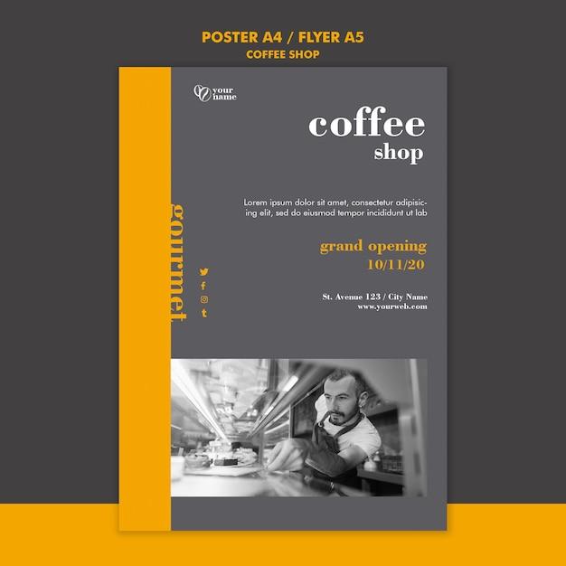 コーヒーショップポスターテンプレート 無料 Psd